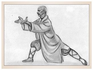 inna-bredereck-auftragsmalerei-portraitzeichnung-kunstwerk-kampsport-karate-kung-fu-moench-gewand-mann