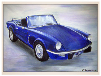 auftragsmalerei-inna-bredereck-kunstwerk-gegenstaende-gegenstandsmalerei-coupe-sportwagen-blaues-auto-cabriolett