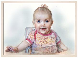 inna-bredereck-auftragsmalerei-portraitzeichnung-kunstwerk-baby-schleife-im-haar-kindersitz