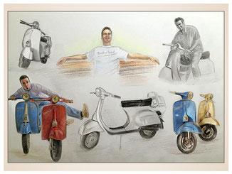 auftragsmalerei-inna-bredereck-kunstwerk-gegenstaende-gegenstandsmalerei-roller-mann-motorrad-spass