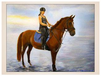 auftragsmalerei-inna-bredereck-aelgemaelde-reiterin-pferd-wasser