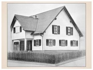 auftragsmalerei-inna-bredereck-Kohlezeichnung-haus-fenster-zaun-grundstueck-kunstwerk