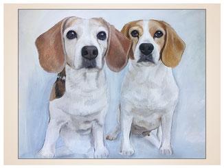 auftragsmalerei-inna-bredereck-kunstwerk-portrait-beagel-hunde-vorwitzig