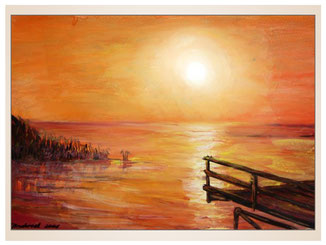 auftragsmalerei-inna-bredereck-acrylgemaelde-oelfarbe-kunstwerk-galerie-see-sonnenuntergang-steg-graeser
