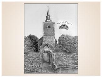 auftragsmalerei-inna-bredereck-kunstwerk-gegenstaende--kirche-eheringe-tor-baeume