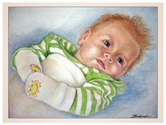 inna-bredereck-auftragsmalerei-portraitzeichnung-kunstwerk-handschuhe-baby-frisur-decke