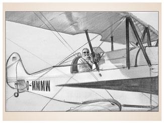 auftragsmalerei-inna-bredereck-kunstwerk-gegenstaende-gegenstandsmalerei-sportflieger-flugzeug-doppeldecker-tragflaechen