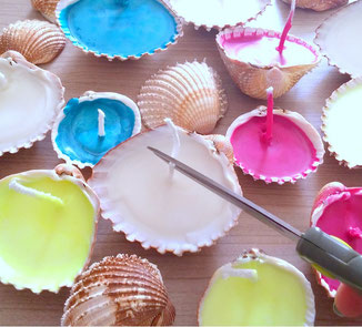 bougies-coquillages-diy