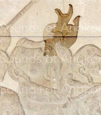 6. Pair of conchs. Angkor Wat, Historical Parade. 12th c.