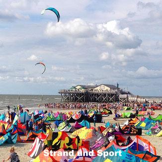 Viel los beim Kite Weltcup in Ording