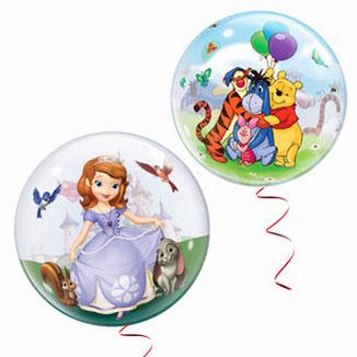 Motiv-Bubble, Luftballon, Kunststoff, Ballon, Lizenz, lizenziert, Princess, Sophia, Winnie Pooh