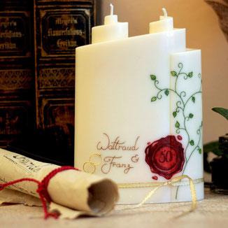 Hochzeitskerzen, Taufkerzen, Trauerkerzen, Geburtstagskerzen