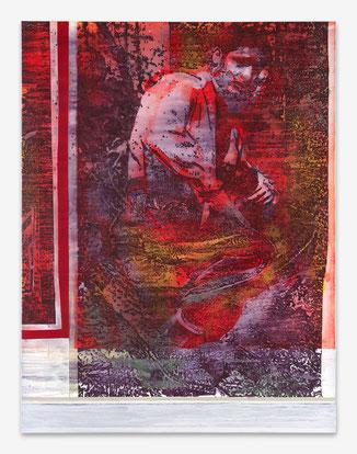 JAN MUCHE, Cappa, 2019, Acryl und Tusche auf Leinwand, 170 x 130 cm