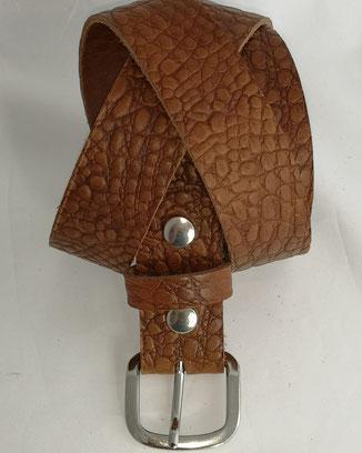 belle ceinture artisanale en cuir pleine fleur véritable entièrement doublée de cuir made in France