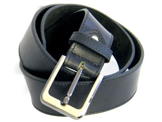 large ceinture en cuir noir made in France