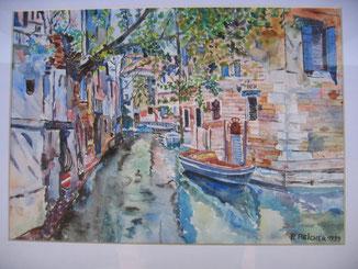 Wasser-Einbahn in Venedig 1999