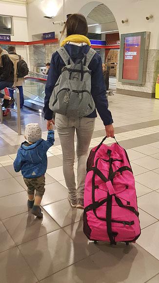 Nowi Reisetasche mit Rollen pink, Nowi Reisetasche Test: leichte Nowi XXL 3-Rollen Reisetasche erweiterbar