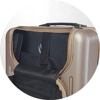 15 Zoll Asus Laptop im Laptopfach, Trolley mit Laptopfach, Trolley-Handgepäck Laptopfach