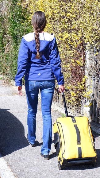 Samsonite Paradiver Light Test, Handgepäck Reisetasche, Reisetasche mit Rollen und Rucksackfunktion, wasserdichte Reisetasche