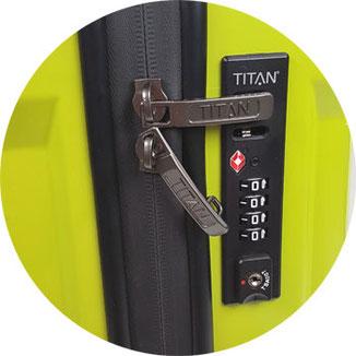 Koffer mit TSA-Schloss