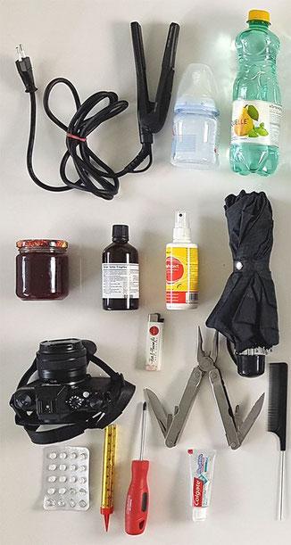 liste handgepäck verboten, handgepäck erlaubt erboten