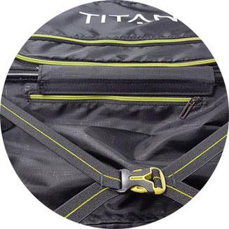 Koffer Titan X2 Innenausstattung