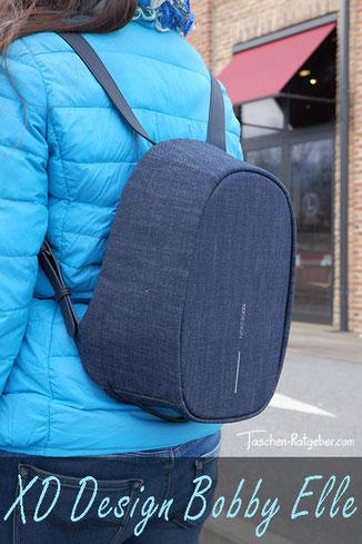 xd design bobby elle, city rucksack damen diebstahlsicher