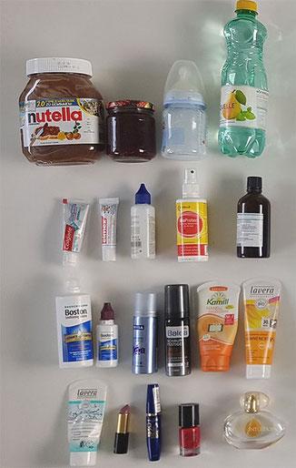 Handgepäck Flüssigkeiten, Flüssigkeiten Handgepäck, Handgepäck Zahnpasta, HAndgepäck duschgel, Handgepäck haargel, Handgepäck handcreme, Handgepäck Nagellack