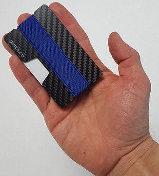 Kartenetui RFID Schutz Test: Slimpuro Test - Slim Wallet aus Carbon
