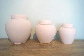 Urn vormen en maten Standaard Collectie, onbeschilderd