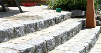 Granit-Treppengestaltung