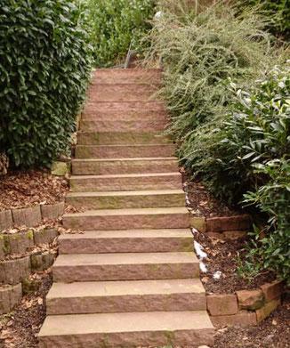 Natursteintreppen-Gestaltung