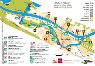 parcours canoë kayak rafting à Picquigny dans la Somme en Picardie