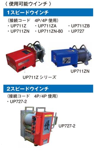 UP700RC 使用可能ウインチ