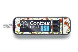 Sticker für Bayer Contour next Blumenranken