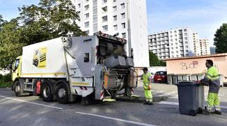 Camions et rippeurs de Grenoble-Alpes Métropole