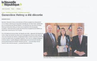 La Nouvelle République - 24 Mai 2013