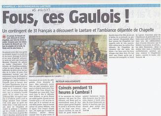 La Nouvelle Gazette (Belgique) - 14 Mars 2013