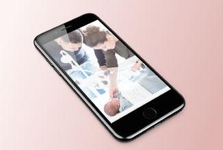 Careyn kraamzorg - ontwerp en fotografie mobiele skin