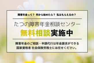 障害年金相談サービス 佐用・たつの・姫路の社会保険労務士事務所