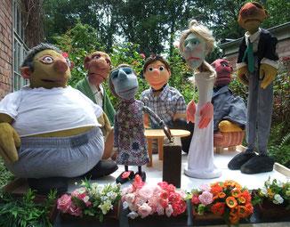 """Figuren aus """"Kati, Ole und der Wunderbalkon"""""""