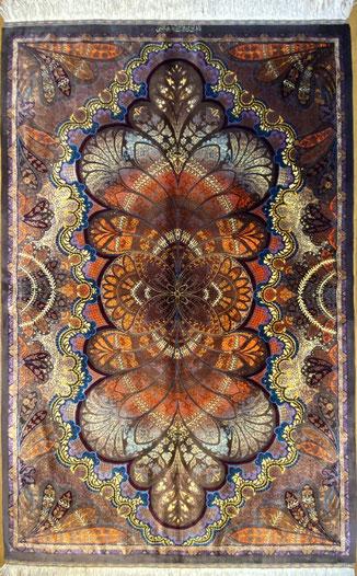 QUM silk ABBASSI工房 ザロニムサイズ150x100