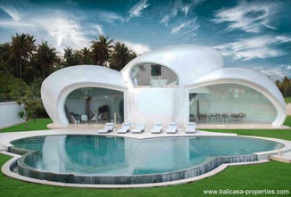 Tanah Lot villa resort for sale with totally 8 bedrooms.