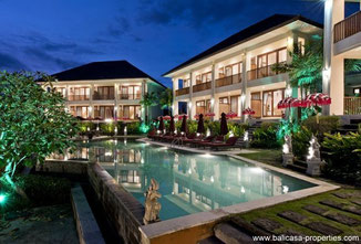 Tabanan townhouses for sale surrounded by rice fields.