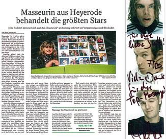Zeitungsausschnitte und Zertifikate von Jutta Rudolph