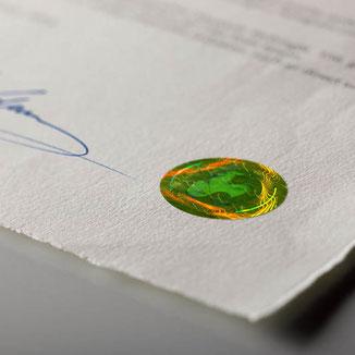 Certificato di autenticità - Ogni stampa Fine Art viene consegnata con un certificato di autenticità