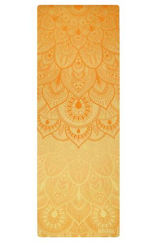 Yogamatte Naturkautschuk Mandala gelb