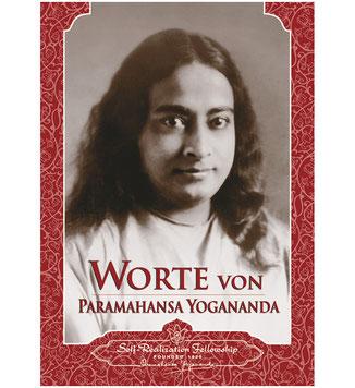 Buch Worte von Paramahansa Yogananda