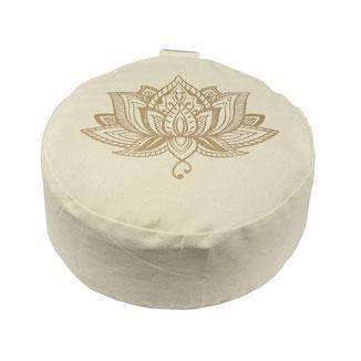 Yoga Kissen Baumwolle Lotus Print
