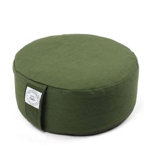 Meditationkissen rund olive grün